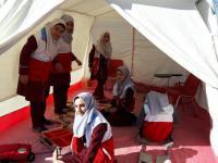 مانور کاهش مخاطرات زلزله و درد دل های دانش آموزان با مسئولین